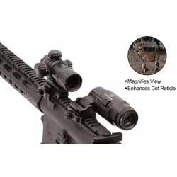 UNLEASH THE GLOW 3X MAGNIFIER SCPMF3WEQS RED DOT