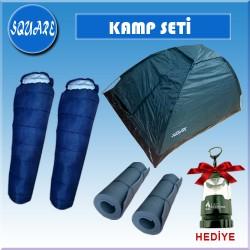 SQUARE 2 KISILIK KAMP SET(CADIR+UYKU TUL+MAT+FENER