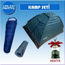 SQUARE 1 KISILIK KAMP SET(CADIR+UYKU TUL+MAT+FENER