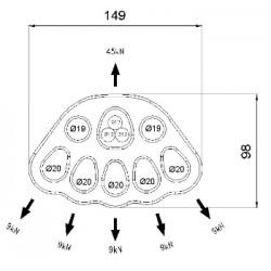 CT L637 5 DELIKLI ALUM. DAGITIM PLAKASI 40KN